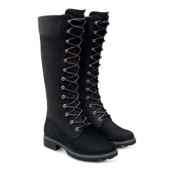 Timberland Womens Premium 14 Inch Tall Lace Up Waterproof Boots - Black - 8167R
