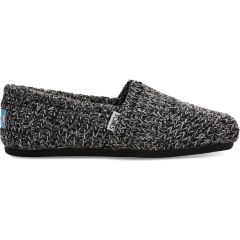 Toms Womens Alpargata Vegan Slippers - Black