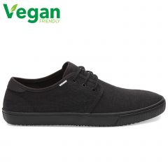 Toms Mens Carlo Classic Vegan Canvas Plimsoll Dap Shoes - Black Black