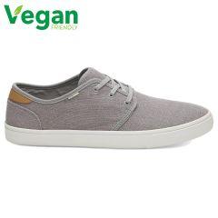 Toms Mens Carlo Classic Vegan Canvas Plimsoll Dap Shoes - Drizzle Grey