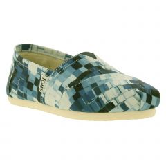 Toms Womens Printed Classic Espadrille - Ink Satin Paint