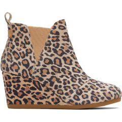 Toms Womens Kelsey Boots - Desert Tan Leopard