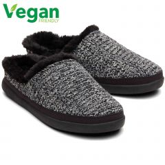 Toms Womens Sage Vegan Slippers - Black Multi Cozy