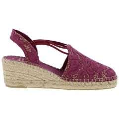 Toni Pons Womens Tania Espadrille Wedge Shoes - Rosa