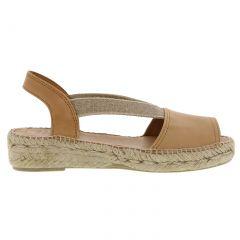 Toni Pons Womens Etna Leather Slingback Espadrille Sandals - Tan Curio