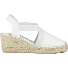Toni Pons Womens Wedge Slingback Espadrille Shoes - White