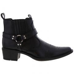 US Brass Mens Eastwood Western Cowboy Boots - Black