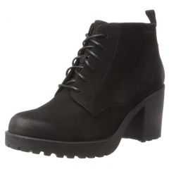 Vagabond Womens Grace Lace Up Leather Ankle Boots - Black - 4428-450