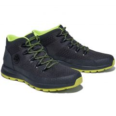 Timberland Mens Sprint Trekker Mid Fabric Boots - Jet Black - A29SW