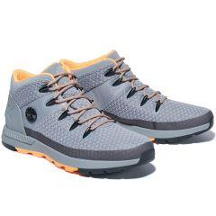 Timberland Mens Sprint Trekker Mid Fabric Boots - Medium Grey - A29WD