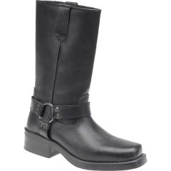 Gringos Woodland Mens Harley High Biker Cowboy Harness Boots - Black