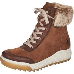 Rieker Womens Wide Fit Water Resistant Winter Boots - Brown