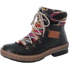 Rieker Womens Z6743 Ankle Boots - Black Schwarz