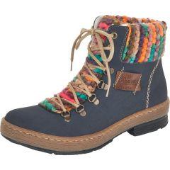 Rieker Womens Z6743 Ankle Boots - Blue Pazifik