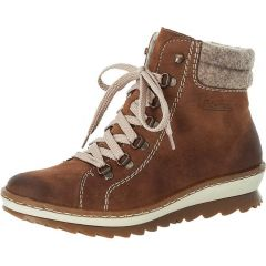 Rieker Womens Z8610 Ankle Boots - Brown Wood