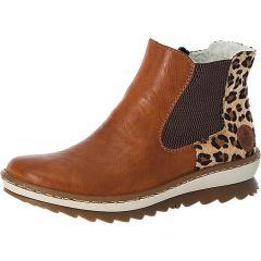 Rieker Womens Z8689 Chelsea Boots - Cayenne Brown