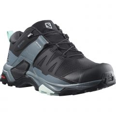 Salomon Womens X Ultra 4 GTX Waterproof Shoes - Black Stormy Weather
