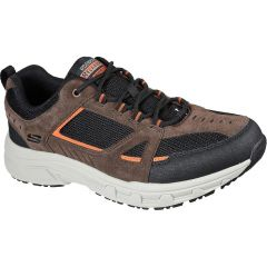 Skechers Mens Oak Canyon Relaxed Fit Shoes Trainers - Chocolate Black