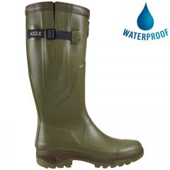 Aigle Parcours 2 ISO Mens Womens Adjustable Neoprene Wellies Rain Boots - Khaki