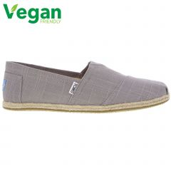 Toms Mens Classic Alpargata Espadrille Shoes - Grey Linen