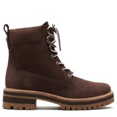Timberland Womens Courmayeur Valley Ankle Boots - Dark Brown - 23UYW