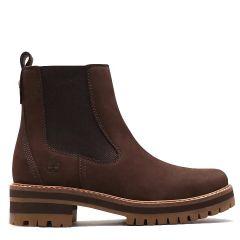 Timberland Womens Courmayeur Valley Chelsea Boots - Dark Brown - 23WUW