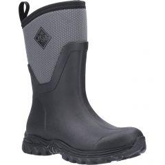 Muck Boots Womens Arctic Sport II Mid Neoprene Wellies - Black Grey