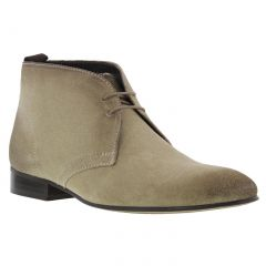 Base London Mens Trader Chukka Boots - Suede Taupe