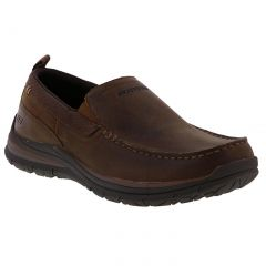 Skechers Mens Superior 2.0 Jeveno Slip On Shoes - Dark Brown