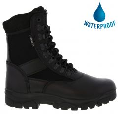 Grafters Mens Sniper Waterproof Combat Military Boots - Black
