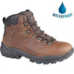 Johnscliffe Mens Waterproof Walking Boots - Conker Brown