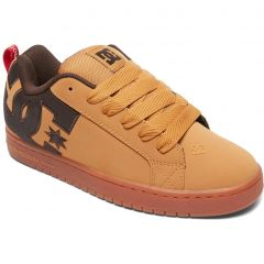 DC Mens Court Graffik SE Skate Shoes - Wheat Turkish Coffee