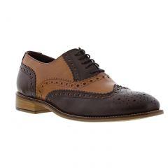 London Brogues Mens Gatsby Shoes - Tan Brown