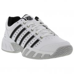 K Swiss Mens Bigshot Light Leather Tennis Trainers Shoes - White Black Silver