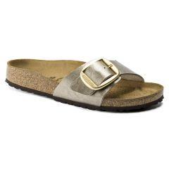 Birkenstock Womens Madrid Big Buckle Regular Fit Sandals - Graceful Taupe