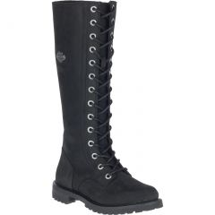 """Harley Davidson Womens Lornell 14"""" Lace Tall Boots - Black"""