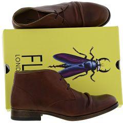Fly London Mens Muro Leather Chukka Boots - Cognac