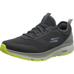 Skechers Mens Go Run Consistent Nite Owl Trainers - Charcoal Lime