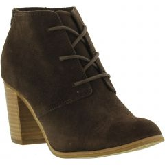 Toms Womens Lunata Lace Up Chukka Ankle Boots - Chocolate