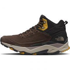 North Face Mens Vectiv Mid Futurelight Ltr Waterproof Walking Shoes  - Deep Brown TNF Black