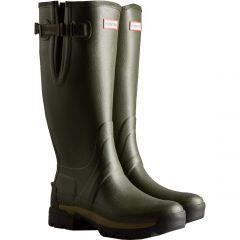 Hunter Mens Balmoral Adjustable Neoprene Wellington Boots - Dark Olive