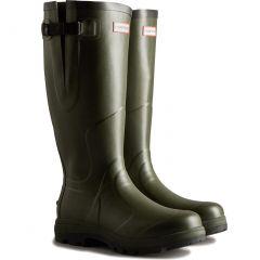 Hunter Mens Balmoral Classic Side Adjustable Wellington Boots - Dark Olive