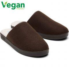 Toms Mens Harbor Vegan Slippers - Coco Brown Felt