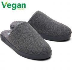 Toms Mens Harbor Vegan Slippers - Smoke Grey Felt