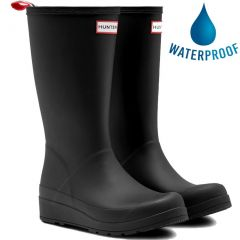 Hunter Womens Original Play Tall Wedge Platform Wellies Rain Boots