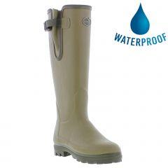Le Chameau Womens Vierzonord Neoprene Lined Wellies Rain Boots - Vert