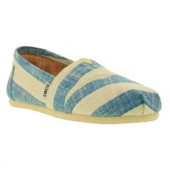 Toms Womens Classics Alpargata Espadrille - Blue White Stripes