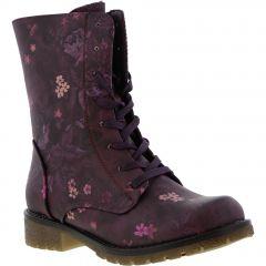 Heavenly Feet Womens Chloe 2 Boots - Purple Floral