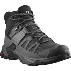 Salomon Mens X Ultra 4 Mid GTX Waterproof Walking Boots - Black Magnet Pearl Blue