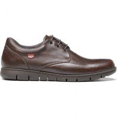On Foot Mens Blucher Bordon Leather Lace Up Shoes - Marron